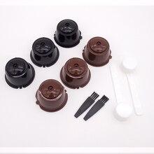 6 шт Кофе фильтр чашки с ложка-кисточка подходит для Dolce Gusto многоразового пользования Кофе капсулы фильтры корзины капсулы Кухня кафе инстр...