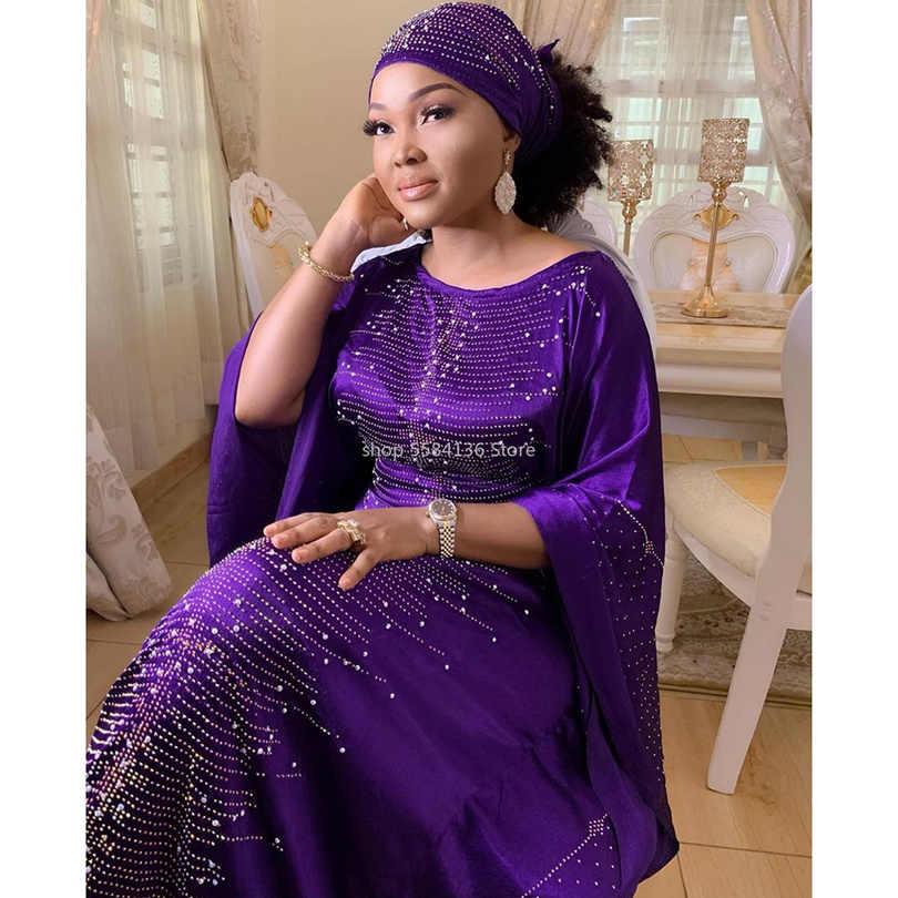 חדש אפריקאי שמלות לנשים דאשיקי vetement femme 2020 חלוק africaine bazin riche אנקרה בתוספת גודל שמלת אפריקאי ראש צעיף