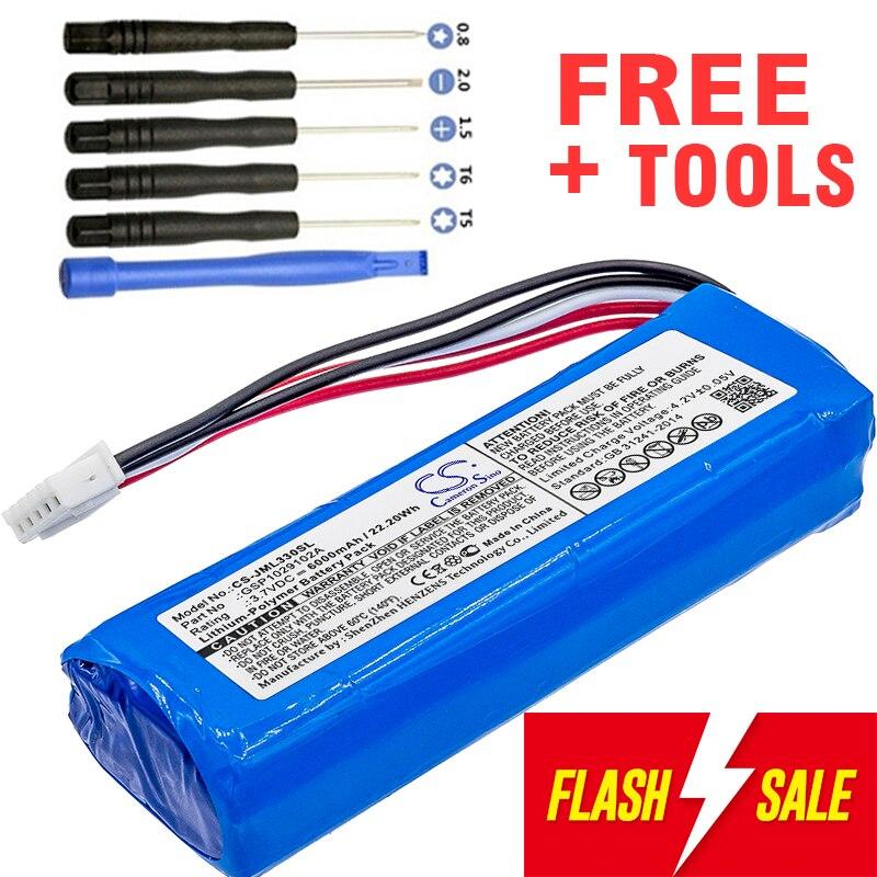 Bateria 6000 mah bateria gsp1029102a para carga jbl 3 (por favor, verifique o lugar de 2 fios vermelhos em sua bateria antiga)