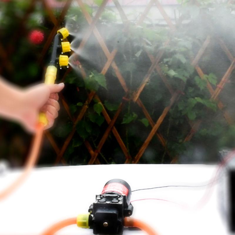 Water Pump DC Agricultural Electric Water Pump Black Micro High Pressure Diaphragm Water Sprayer Car Wash 12V Sprayer G375-1