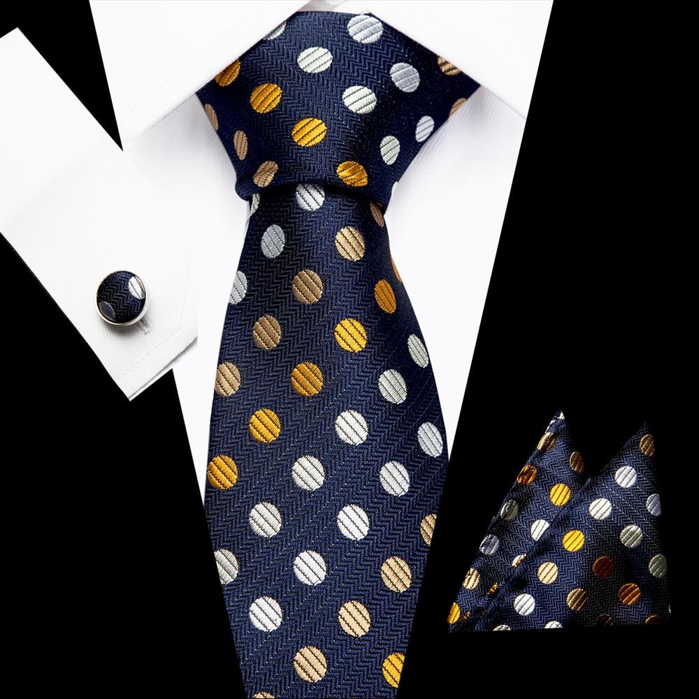 Luxury  Men's Dot Ties Set 7.5cm Jacquard Woven 100% Silk Necktie Flomal Accessories Cravat Fashion Party Gift Mens Classic Tie