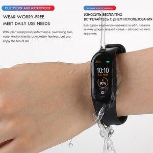 Image 5 - M4 смарт Браслет фитнес трекер часы спортивный браслет пульсометр монитор смарт ленты