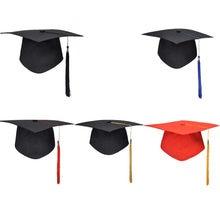 La nueva Escuela de graduación fiesta gorra con borlas Mortarboard de la Universidad solteros maestro Doctor gorro académico