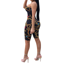 Party Bodysuit Overalls Rompers Club Printed Strapless New-Fashion Full