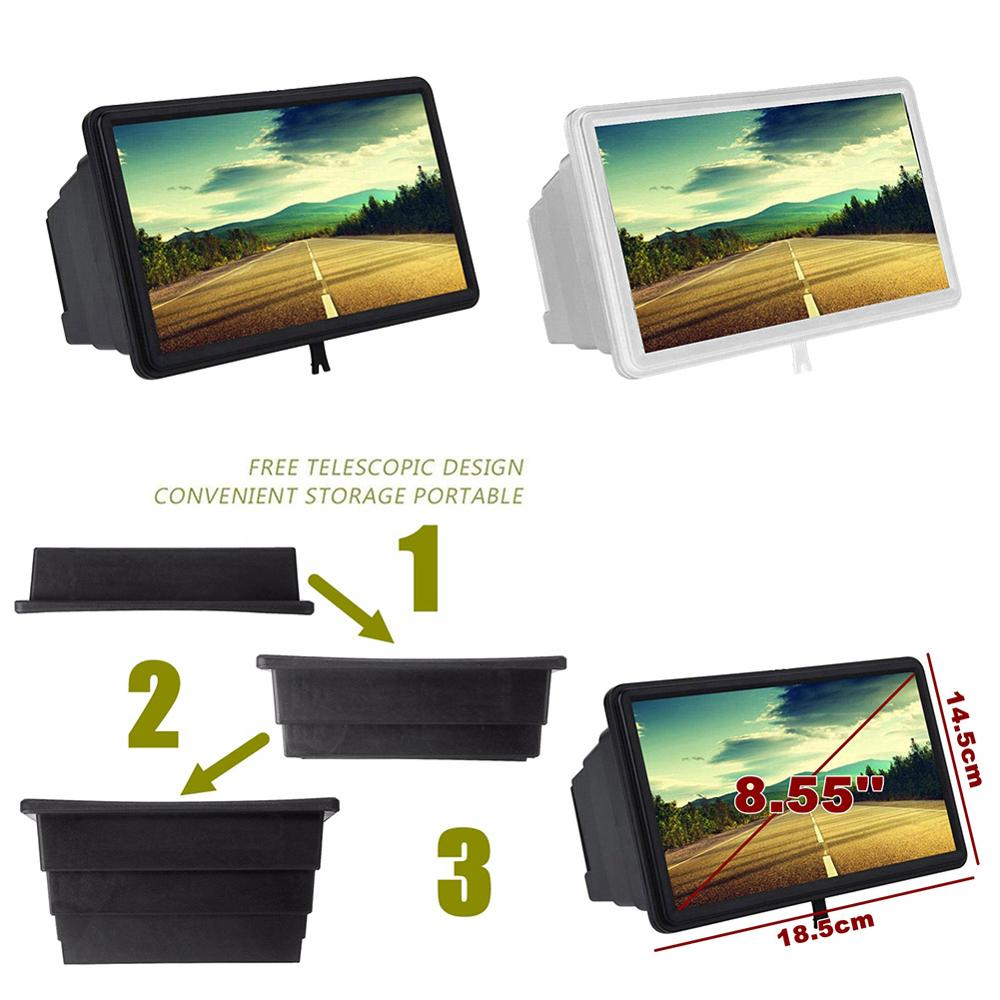 New 3D Mobile Phone Screen Magnifier Video Amplifier Stereoscopic HD Amplifying Stand Movie Video Desktop Smartphone Amplifier