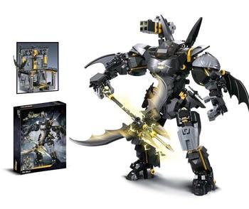 Batman Robot Mech Building Kits Blocks Batmanlys Armor Throne Model Bricks Toys for Children DIY Boy Gifts