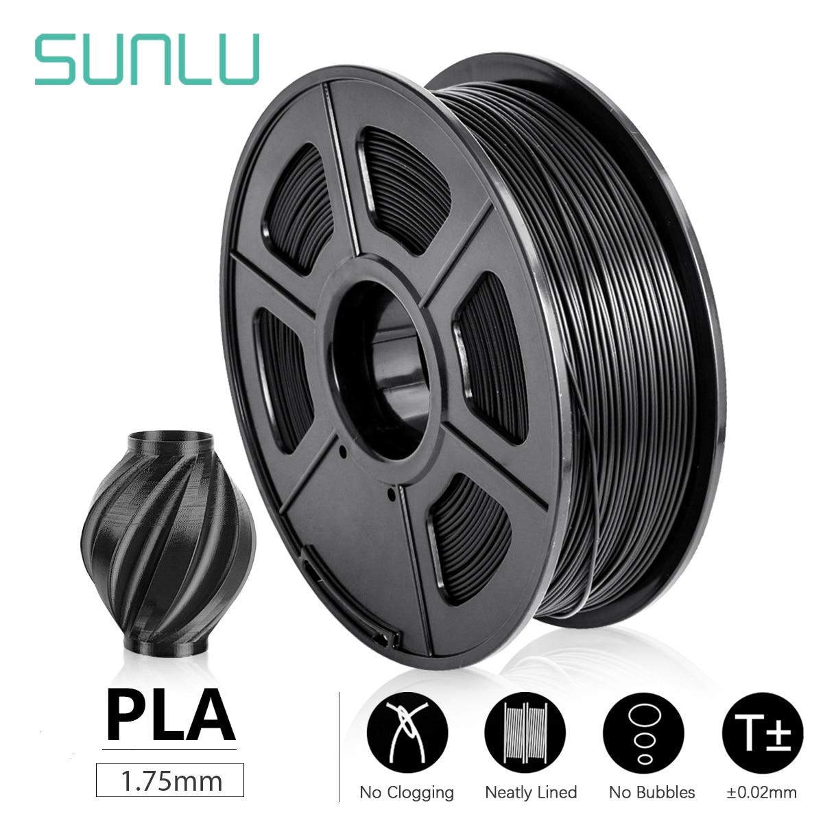 SUNLU 1.75mm PLA Filament 1KG 3D Printer Filament Plastic PLA 3D Printing Material Dimensional Accur