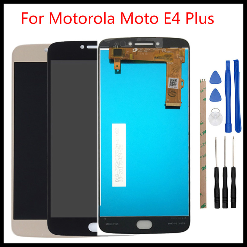 1Pcs For Motorola <font><b>Moto</b></font> <font><b>E4</b></font> <font><b>Plus</b></font> <font><b>XT1770</b></font> XT1771 XT1772 XT1773 <font><b>Display</b></font> Touch Screen LCD Screen Digitizer Complete Assembly image