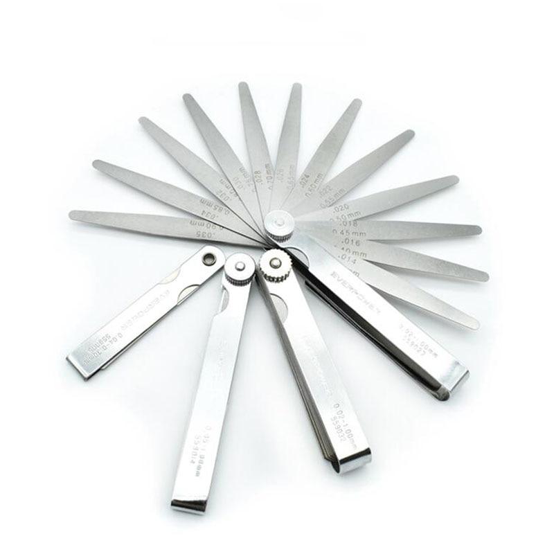 Stainless Steel Gap Ruler 0.02-1mm Feeler Piece Piece 89mm Length Metric Feeler Gauge Filling Gauge 32 Blade Measuring Tool