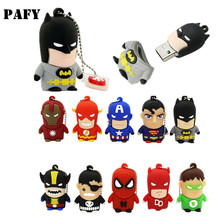 USB Key Flash Drive Superhero Pendrive Cartoon Light Man 128GB 64GB 32GB 16GB 8GB 4GB Pen Memory Stick