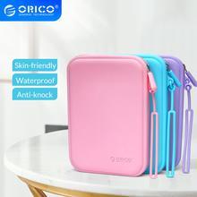 ORICO سماعة سيليكون حقيبة حلوى لون حقيبة سماعة الاذن بروتابلي محفظة للعملة مقاوم للماء الجلد حقيبة التخزين ل USB كابلات مفتاح عملة