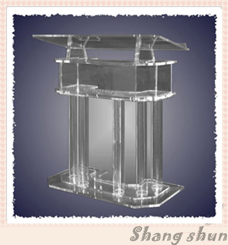 Clear Lectern, Church Pulpit, Acrylic Podium Pulpit Lectern