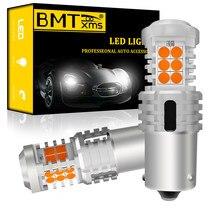 BMTxms 2 adet WY21W LED Canbus ampuller hiçbir Hyper flaş T20 W21W 1156 BA15S 7440 7743 1157 3157 araba dönüş sinyal ışıkları Amber