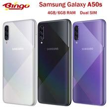 Samsung galaxy a50s duplo sim original desbloqueado 4g celular octa núcleo 6.4