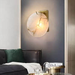 Modern Round Wall Lamp Led Light Creative Personality for Bedroom Bedside Corridor Aisle Copper Staircase Lighting Fixtures