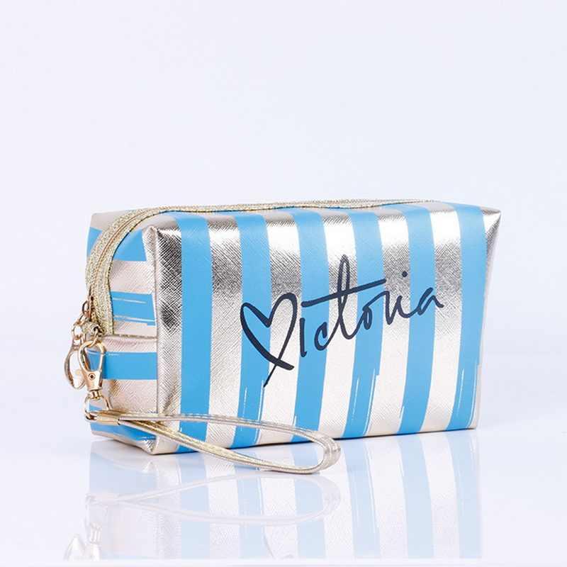 Oeak moda PU deri kozmetik saklama torbaları 2019 yeni kadın makyaj çantası PVC kılıfı yıkama makyaj çantası seyahat organizatör çantası