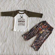 fall boy camo deer children outfits fashionable leaves outfit long sleeve raglan pants toddler clothing baby girls clothes sets