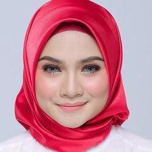 Lenço muçulmano moda feminina seda muçulmano envoltório imediato hijab senhoras cachecol xale lenço quadrado cetim soild lenço para presentes
