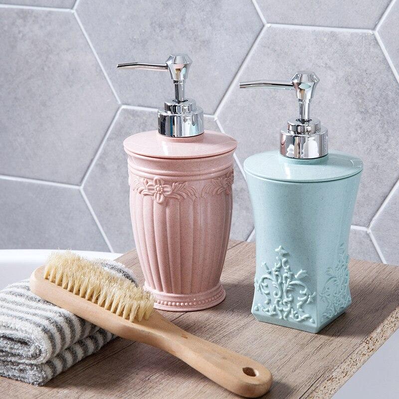 New European Carved Liquid Soap Dispenser Shower 400ml Shower Gel Hand Shower Container For Bathroom Kitchen Supplies