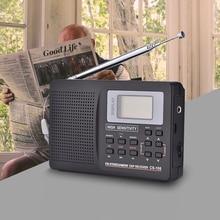 Мини FM радио портативный Радиоприемник Поддержка FM/AM/SW/LW/tv звук Полная частота радиоприемник поддержка будильника для пожилых людей