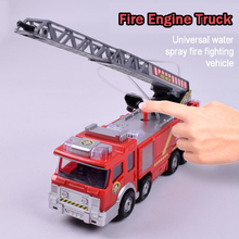 Fire Engine Toy Realistic Watering Car Light Musical Battery Driven Truck Fireman Sam Toys For Children