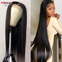 HD Transparent Lace Closure Wig 4x4 Closure Wig Brazilian Straight Lace Wigs 180 Density 30 Inch Lace Wig Remy Human Hair Wigs
