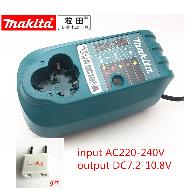 Charger DC10WA For Makita BL1013 7.2V 9.6V 10.8V Li-ion Battery DF030D DF330D DF030DWE TD090D CL104Z CL100DW CL100DWZ TD090DWE