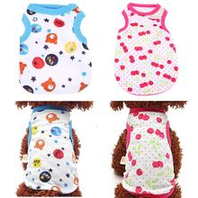 Spring Summer Small Cute Dog Vest Puppy Dog Cat Cotton Clothes Pet Lovely Shirt Soft and Comfortable Dog Supplies lovely cotton dog vest for small dog grey