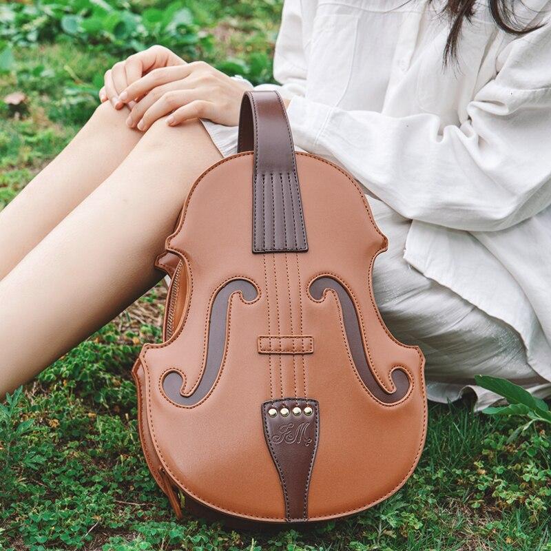 Винтажная дизайнерская сумка-тоут для скрипки, женские кожаные сумки, женские сумки через плечо в Стиле Лолита, сумки через плечо для девоче...