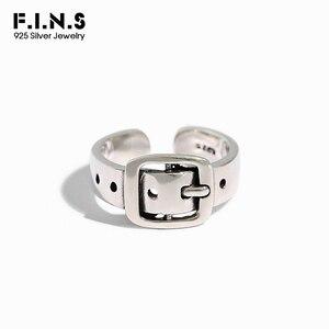 F.I.N.S Punk 925 srebro pierścionki dla kobiet INS Retro stary pasek pierścień delikatne otwarcie Vintage srebrny 925 piękny pierścionek
