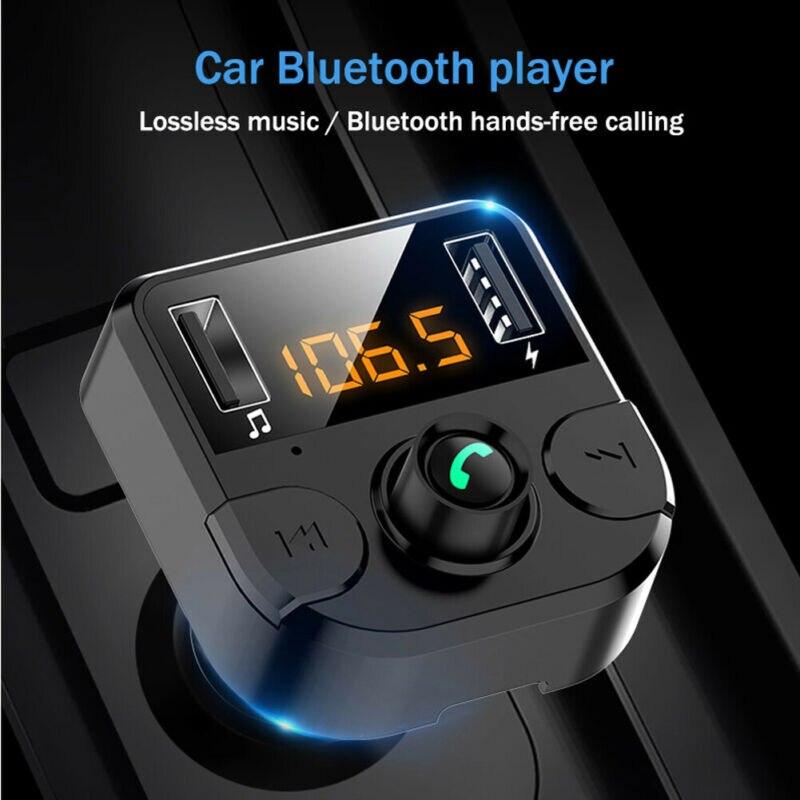 Wireless Bluetooth Handsfree Car Kit FM Transmitter MP3 Player Dual USB