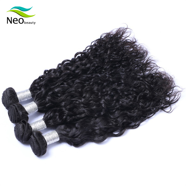 Neobeauty extensiones de cabello con mechones, pelo virgen birmano, ondulado natural