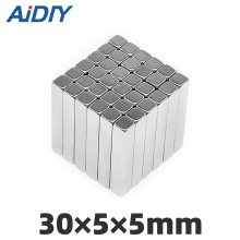 AI DIY 5/20/50 pcs 30x5x5mm strong block neodymium magnets permanent Super powerful  Acoustic Field Speaker 30 * 5 5mm