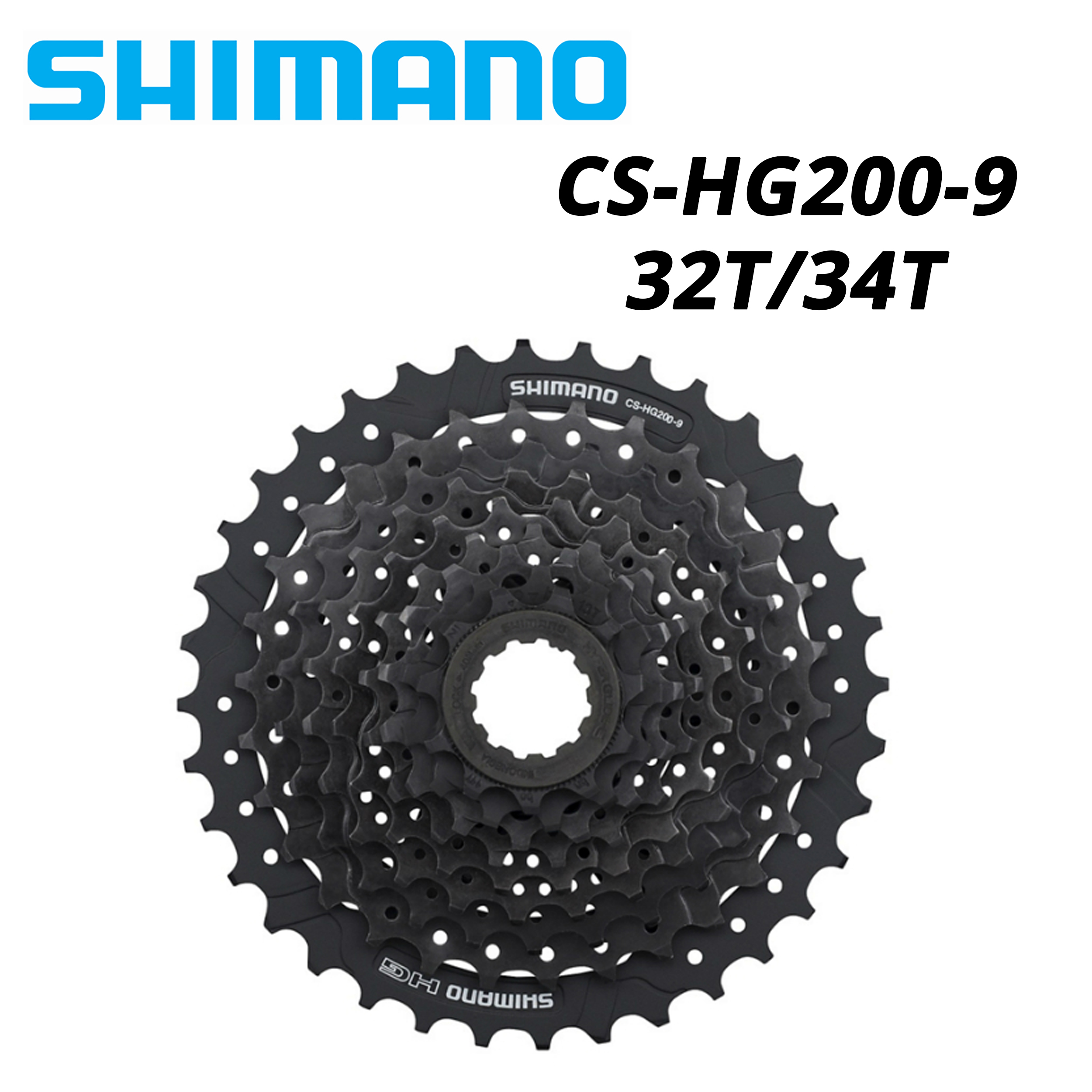 New Shimano CS-HG200-9 Hyperglide Bicycle Cassette 9 Spd 11-32T Road MTB Hybrid