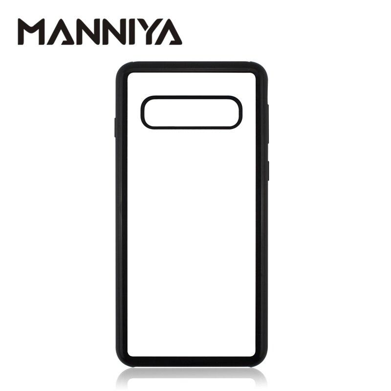 MANNIYA do Samsung Galaxy S10/S10 Plus/S10 Lite sublimacji puste TPU + PC gumowa obudowa z aluminium wkładkami i klejem 100 sztuk/partia w Dopasowane obudowy od Telefony komórkowe i telekomunikacja na AliExpress - 11.11_Double 11Singles' Day 1