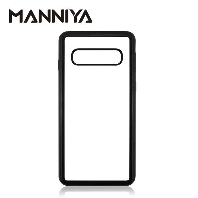 MANNIYA per Samsung Galaxy S10/S10 Plus/S10 Lite Sublimazione in bianco TPU + PC della Cassa della gomma con Alluminio inserti e Colla 100 pz/lotto