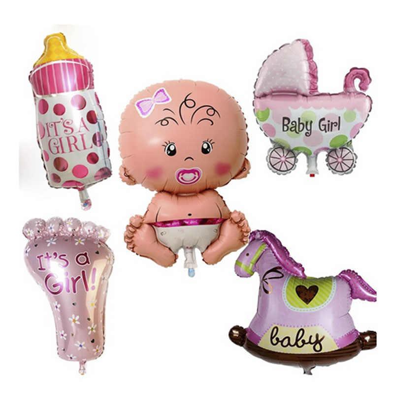Gran bebé Showe chupete globos de papel de aluminio globos de la ducha de bebé, decoraciones de fiesta de cumpleaños