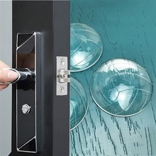 3pcs/6pcs 52x7mm Volleyball Style Self-adhesive Furniture Door Rubber Silencer Pad Door Handle Door Lock Affixed To Wall Buffer