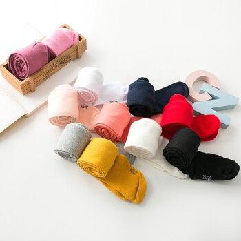 Детские колготки, 1 шт., для детей 0-6 лет, Одежда для новорожденных, хлопковые колготки для девочек, детские вязаные колготки на осень