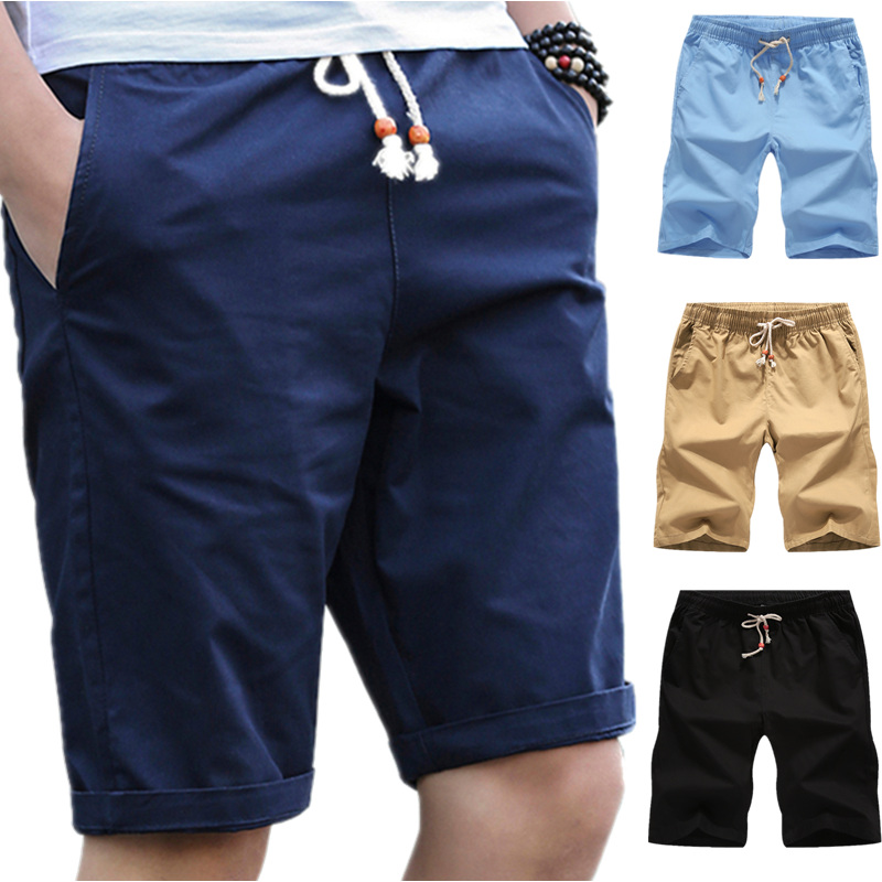 Casual Shorts Trousers Bermuda Breathable Cotton Summer Brand-Clothing Big-Size Fashion