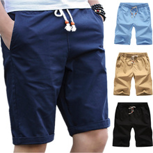 Casual Shorts Men Slim Fit 2019 Summer Fashion Cotton Breathable Male