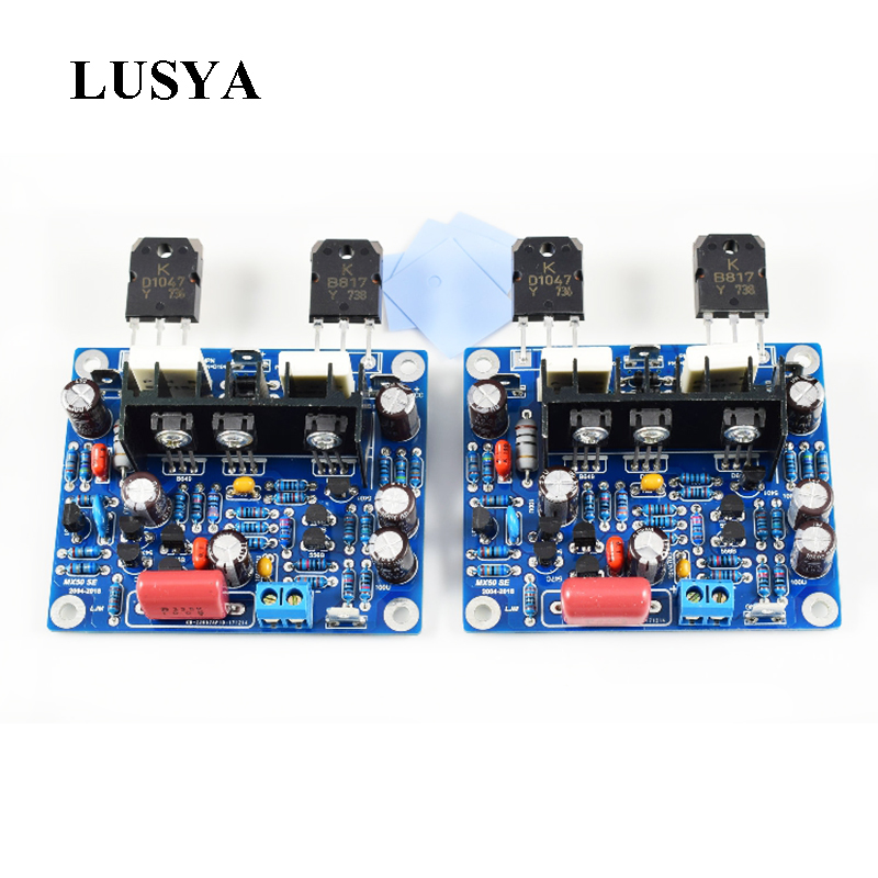 Lusya 2 шт. MX50 SE аудио усилитель мощности 2,0 каналов 100 Вт усилитель Diy Kit/готовая доска