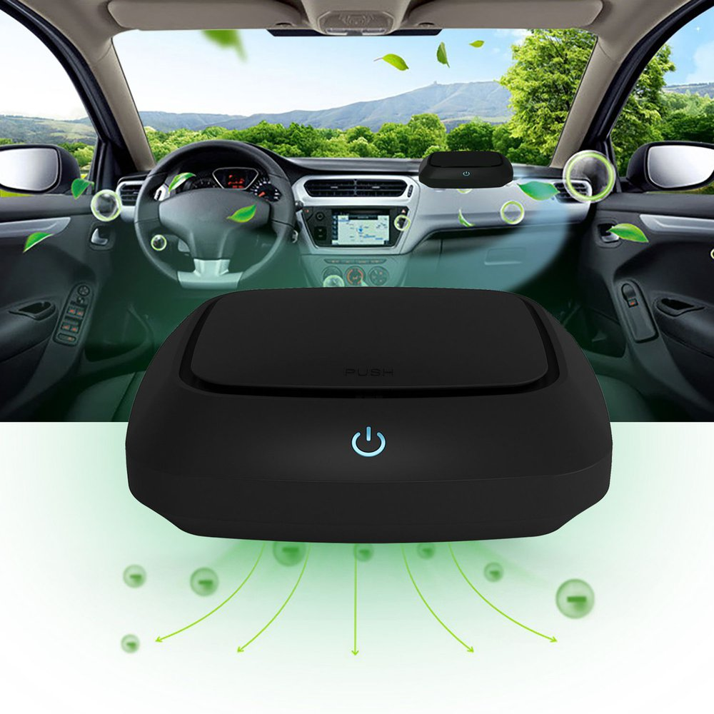 Car Anionic Activated Carbon Air Purifier Negative Ions Cleaner Ionizer Air Freshener Auto Humidifier Mist Maker Eliminator