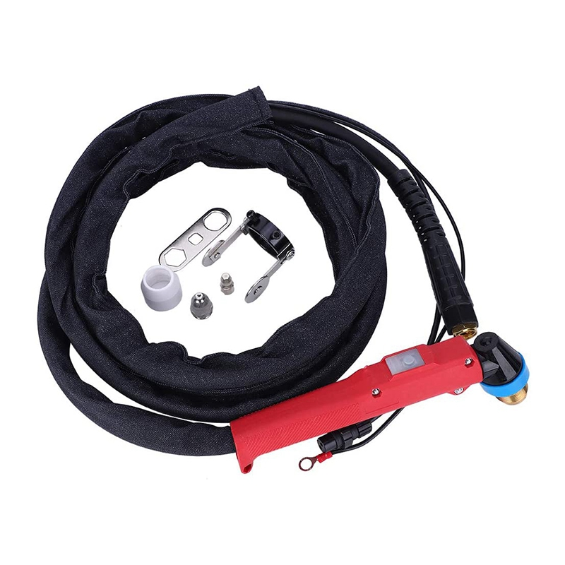 P80 Plasma Cutter Tools Plasma Cutting Torch Accessories for LGK60 LGK80 LGK100 (RED P80-2.5M(Feet))