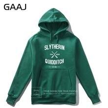 "GAAJ ""Slytherin Quidditch Team"" Print Letter Men Hoodie Women Casual Streetwear Hoodies Coats Casual Homme 2019 New Jacket"