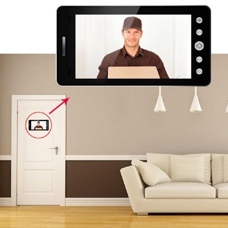 Saful 5 ''Wifi porte judas visionneuse porte caméra 120 degrés avec détection de mouvement Vision nocturne sonnette de maison intelligente - 5