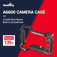 Smallrig A6600 Gabbia Fotocamera per Sony A6600 con Fredda Shoe Mount 1/4 Fori Filettati per Microfono Luce Del Flash Fai da Te Opzioni 2493