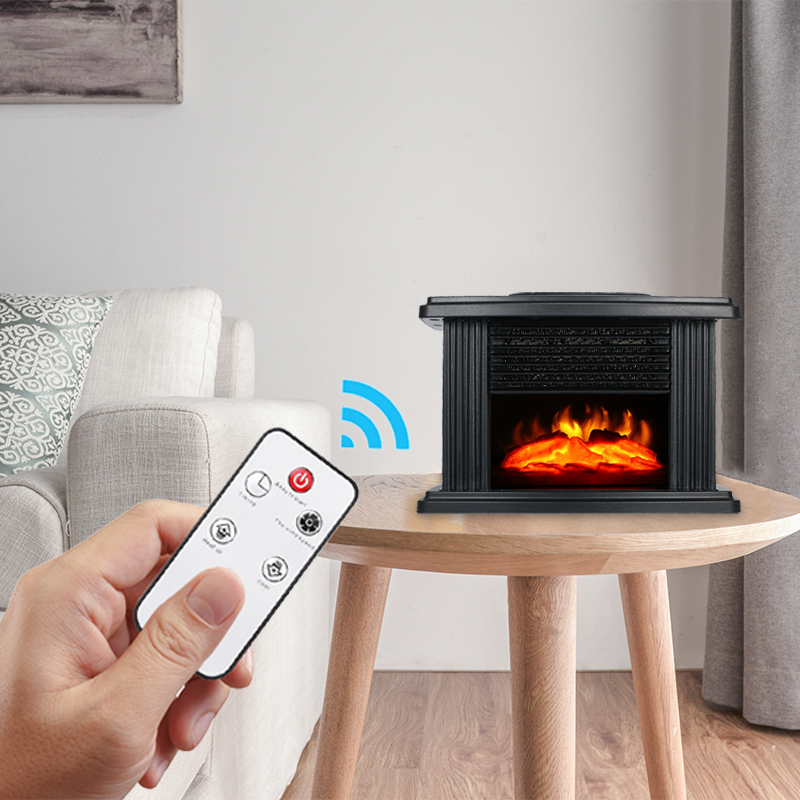Electric Fireplace With Remote Control, Portable Tabletop Fireplace