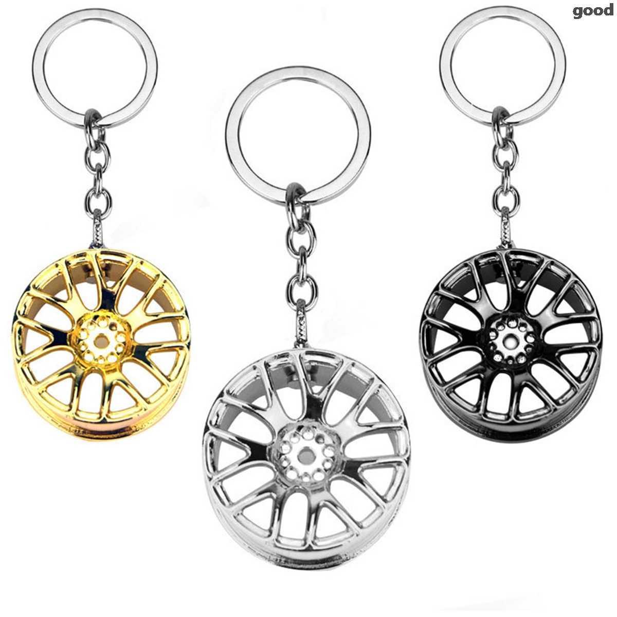Jante de voiture en métal modèle Mini pneu porte-clés anneau pour Renault bmw audi lada opel skoda mazda ford fiat siège VOLVO Renault