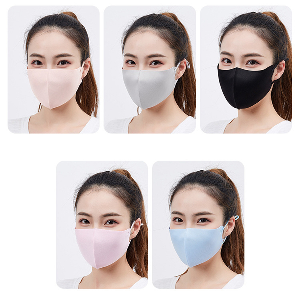 5pcs Cooling Mouth Mask Anti Dust Mask UV Protection Breathable Unisex Mouth Face Mask Masque Masks Facial Mouth Mask Cover